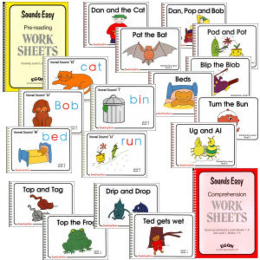 Sounds Easy: Complete Set (both Worksheets and all 17 Readers)