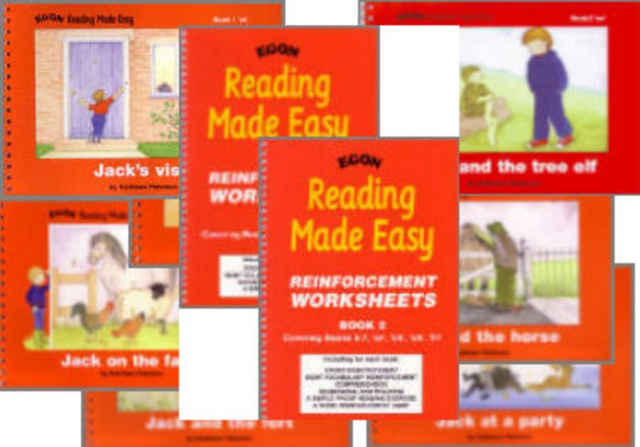 Reading Made Easy: Complete Set - Both Worksheets & all 7 Readers