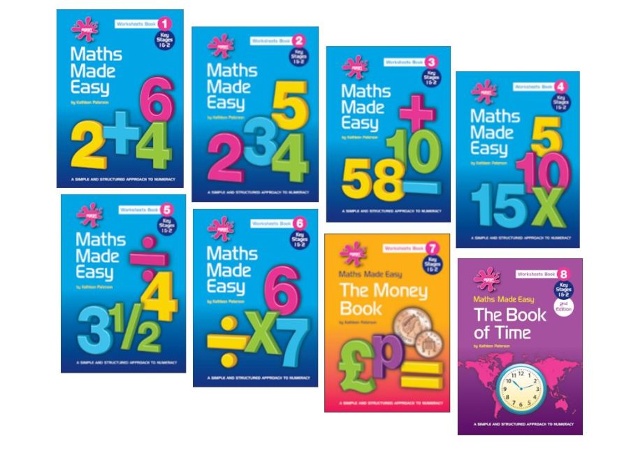 Maths Made Easy:  Set of 8 Books (excludes Tactile Numbers)