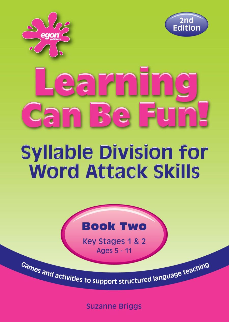 Learning Can Be Fun! Book 2:  Syllable Division for Word Attack Skills