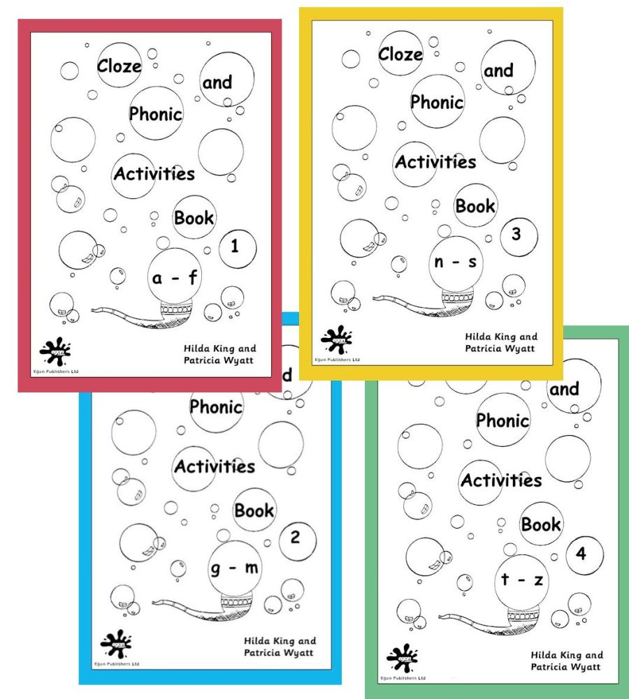 Cloze and Phonic Activities Set 1: Books 1-4