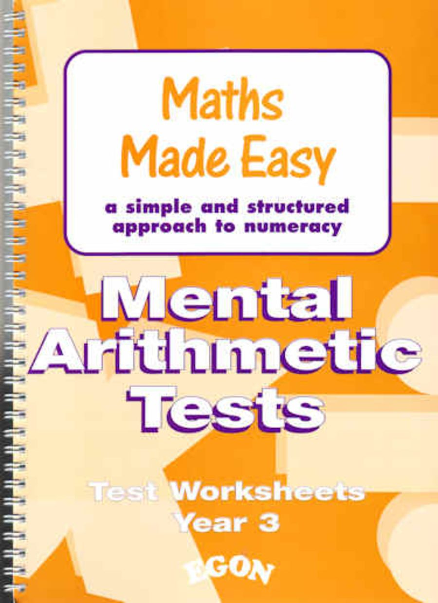 Mental Arithmetic Tests Worksheets Year 3