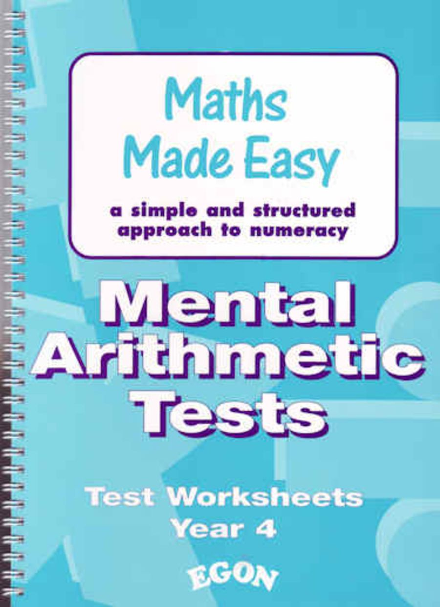 Mental Arithmetic Tests Worksheets Year 4
