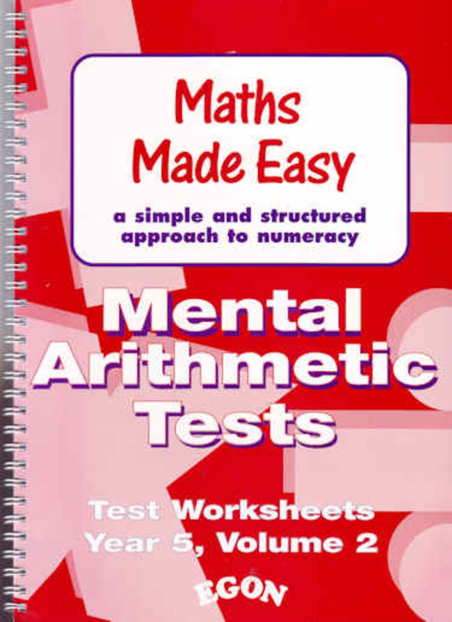 Mental Arithmetic Tests Worksheets Year 5 Volume 2