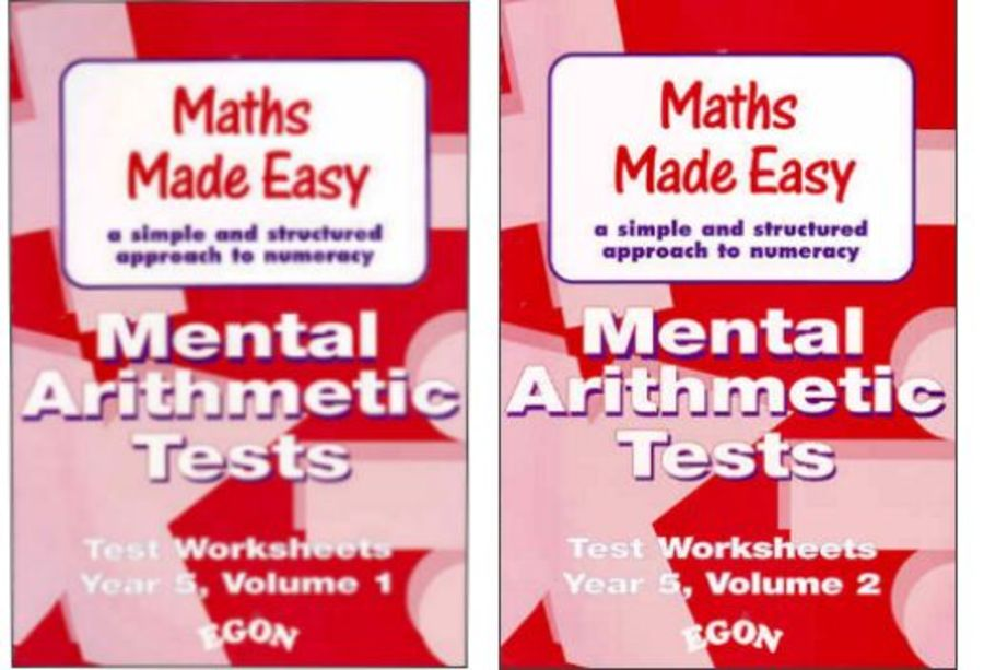 Mental Arithmetic Tests Worksheets Year 5 Set