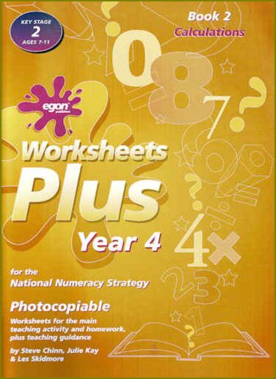 Worksheets Plus Year 4 Book 2: Calculations