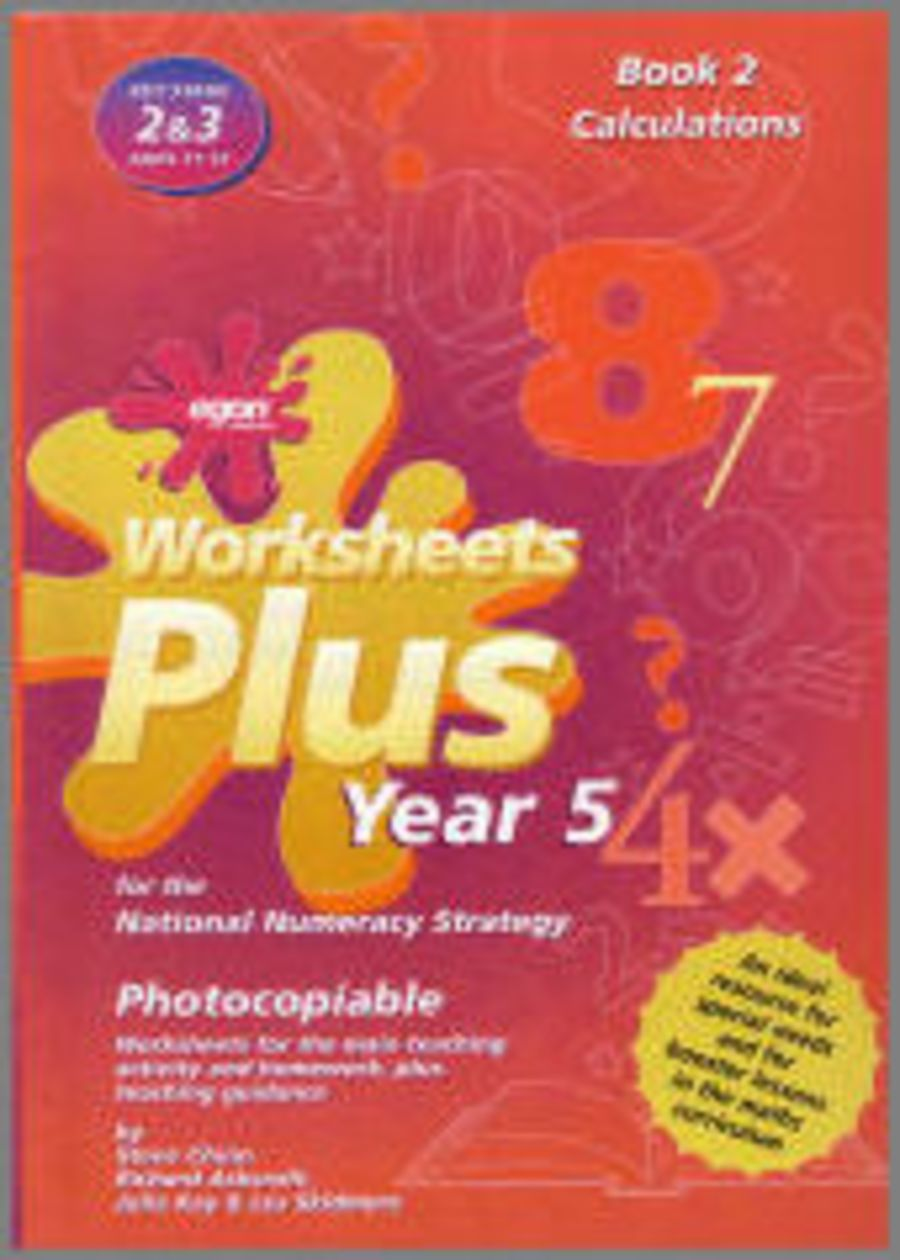 Worksheets Plus Year 5 Book 2: Calculations