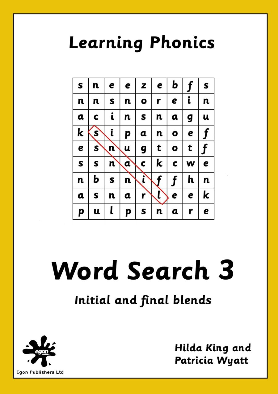 Word Search Book 3: Initial and Final Blends