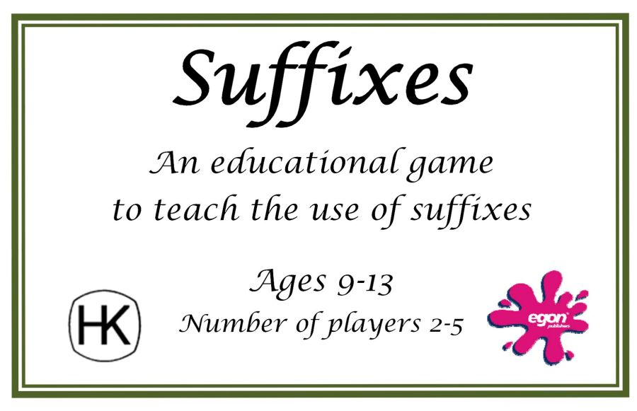 Suffixes Card Game