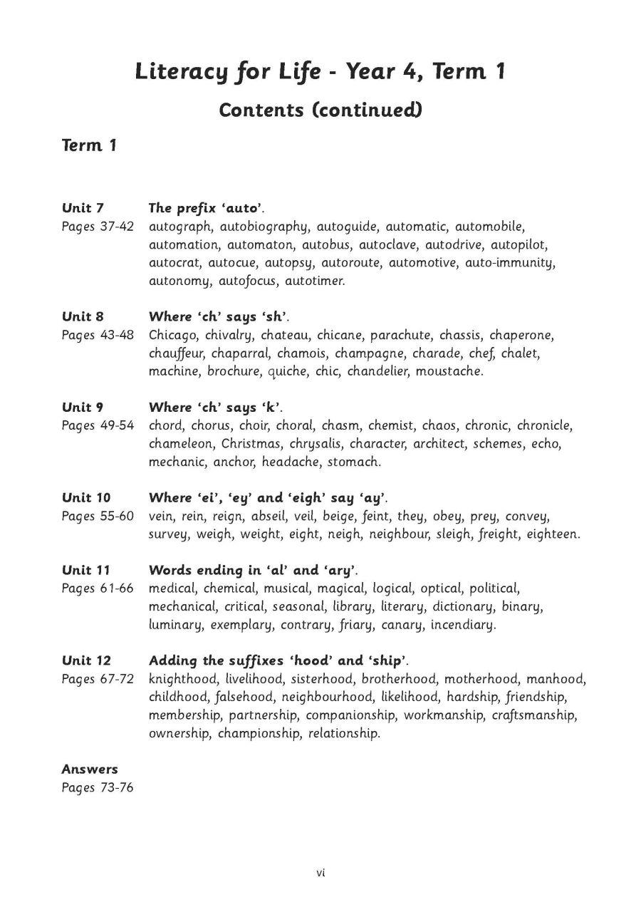 Year 4 Term 2: Spellings, Homophones, Suffixes & Prefixes