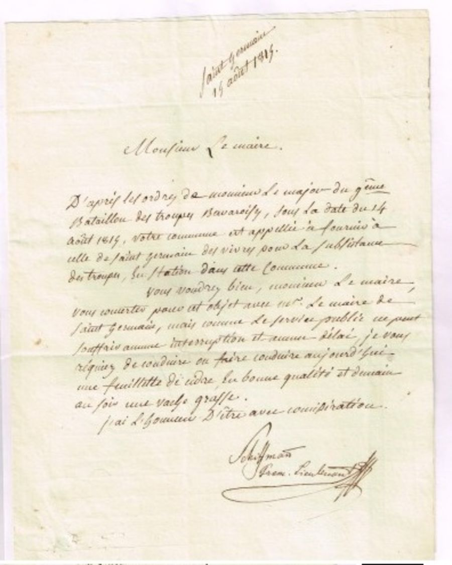 Requisition officer 9eme bataillon Bavarois 1814 (3)