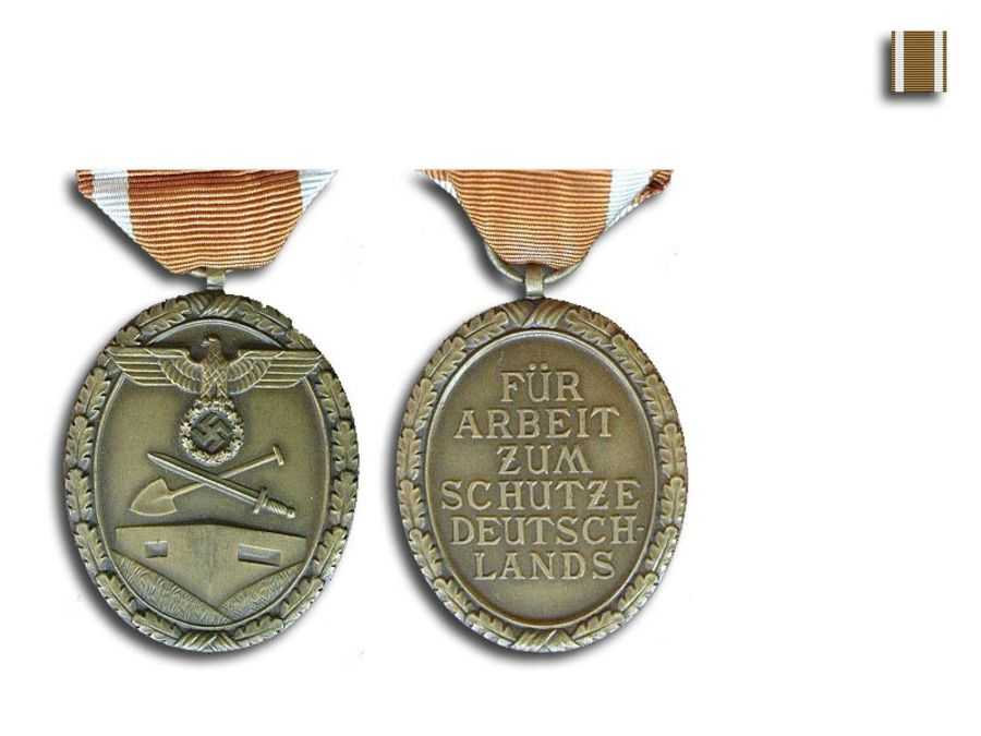 German WWII WestWall medal