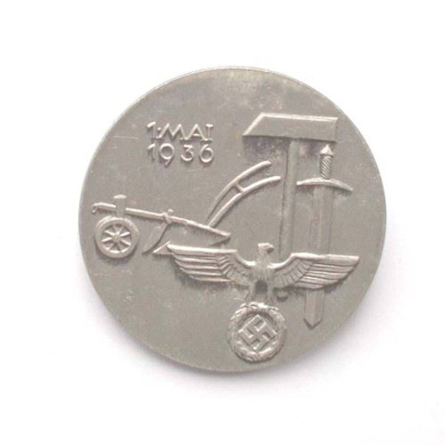 WW2 German May Day 1936 Tinnie Badge. (Ref:213)