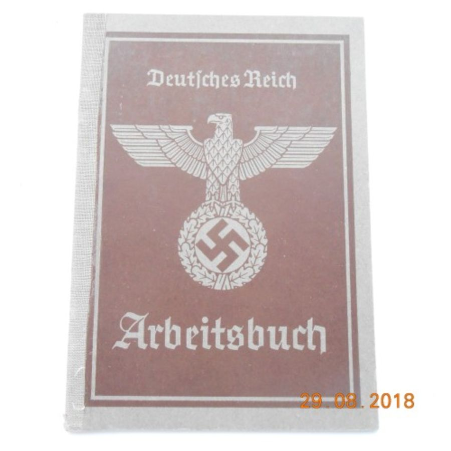 WW2 German  Arbeitsfront Work Book