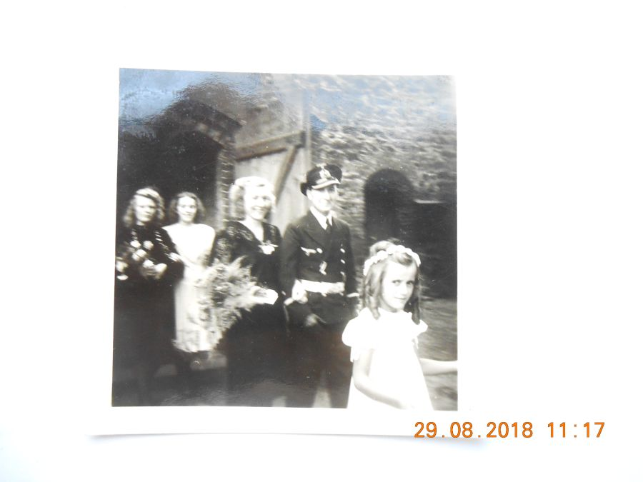 WW2 German Photograpth third reich navy officer wedding