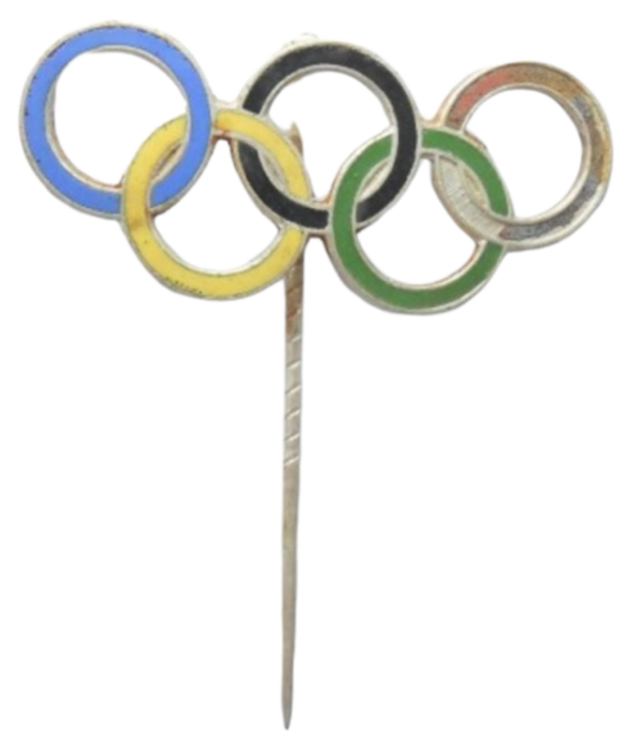 1936 Nazi Germany Olympic Games Enamelled Lapel Pin Badge