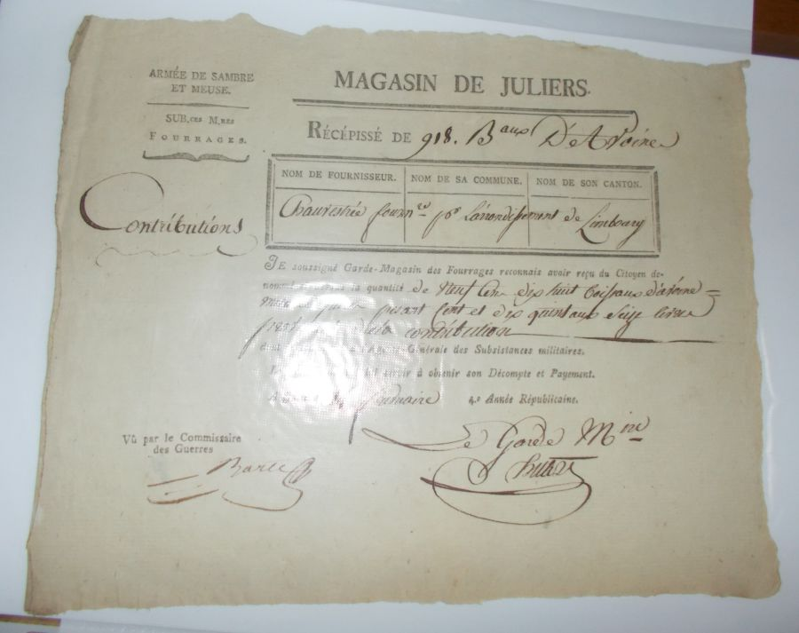 DOCUMENT  Magasin de Juliers 1795 (6)