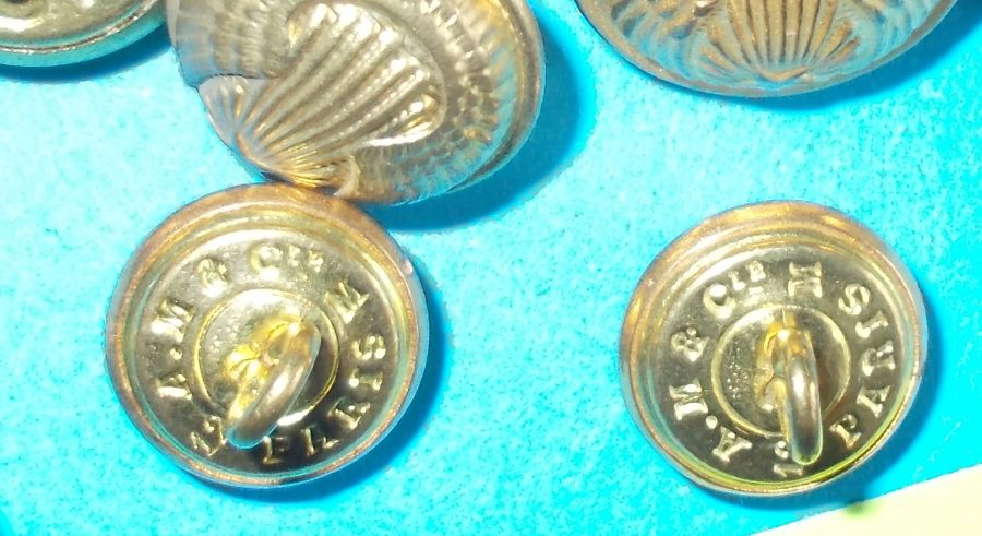 SELECTION FRENCH MILITARY BUTTONS