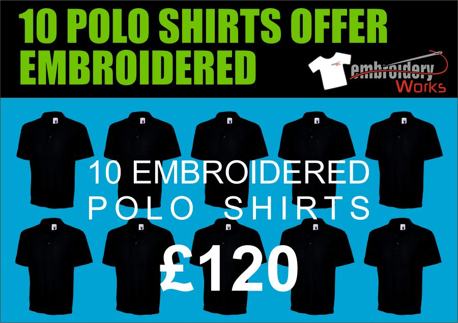 EMBROIDERED 10 POLO SHIRT PACKAGE