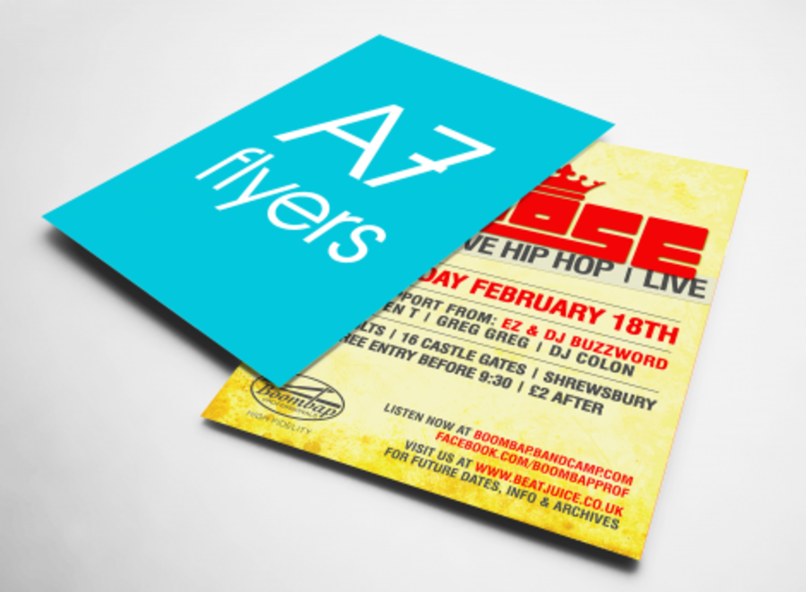 A7 FLYERS PRINTED
