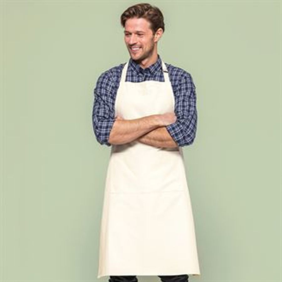 Fairtrade cotton adult craft apron Embrodiered