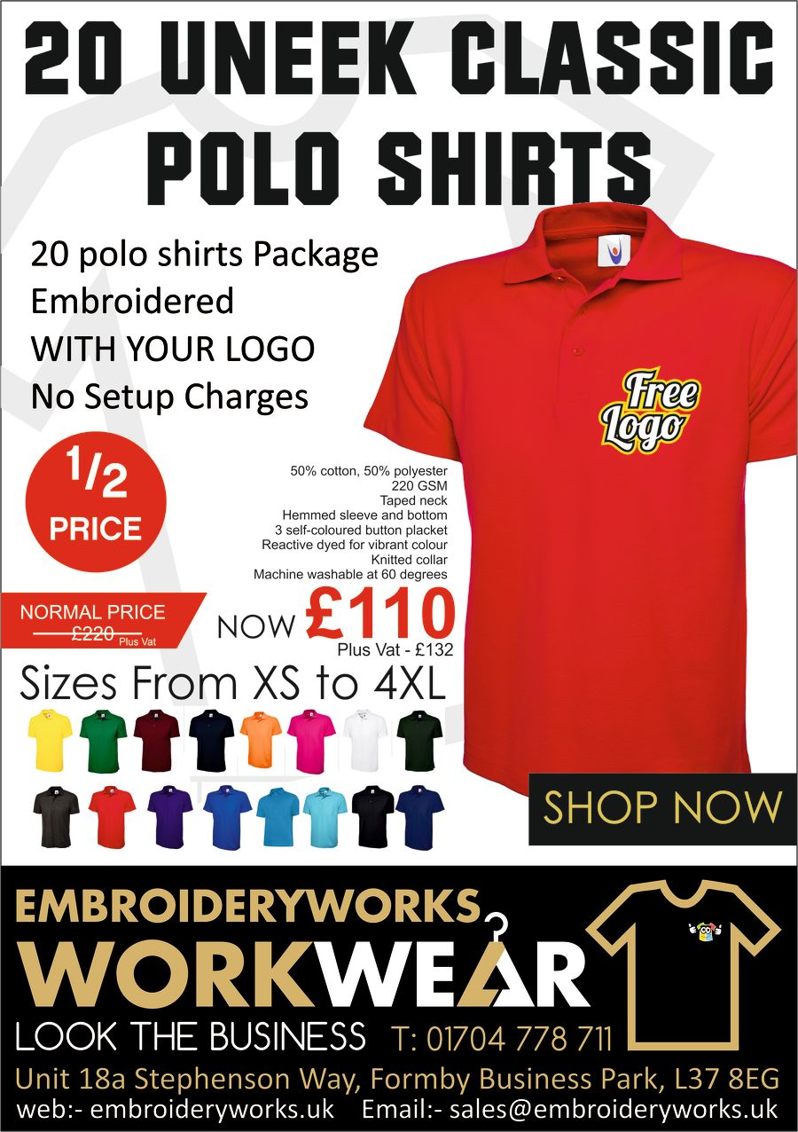 UNISEX EMBROIDERED PREMIUM 15 POLO PACKAGE