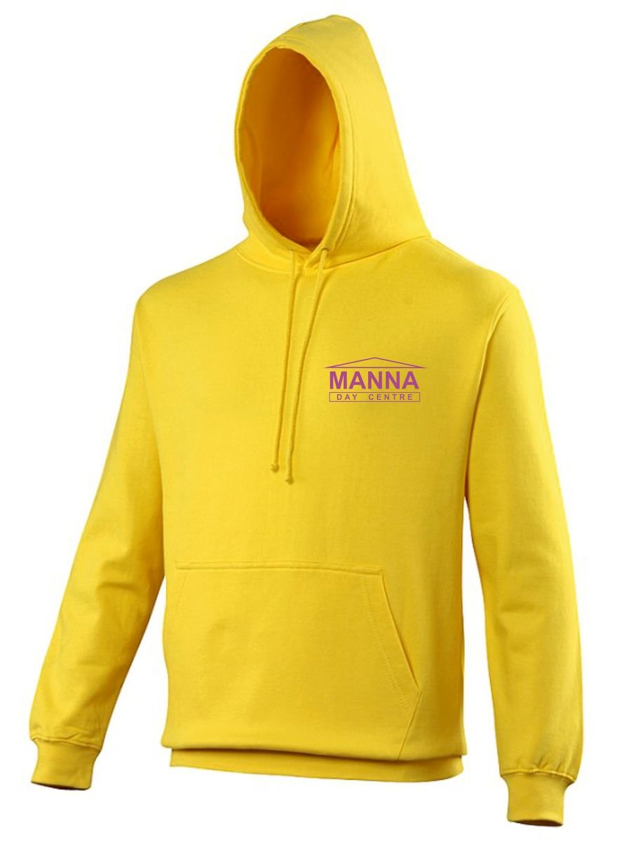 Manna Day Centre Mens Standard Hoodie - Yellow CLIENT
