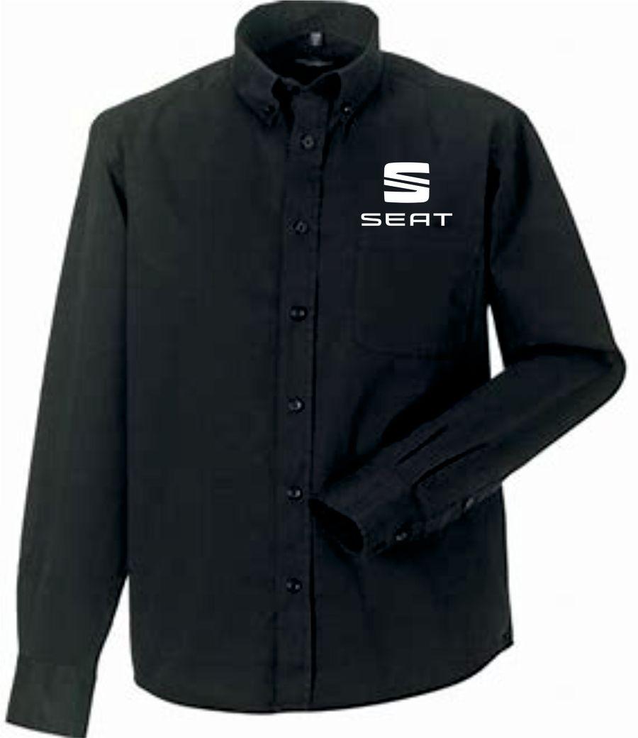 IMG SEAT Long sleeve classic twill shirt - BLACK