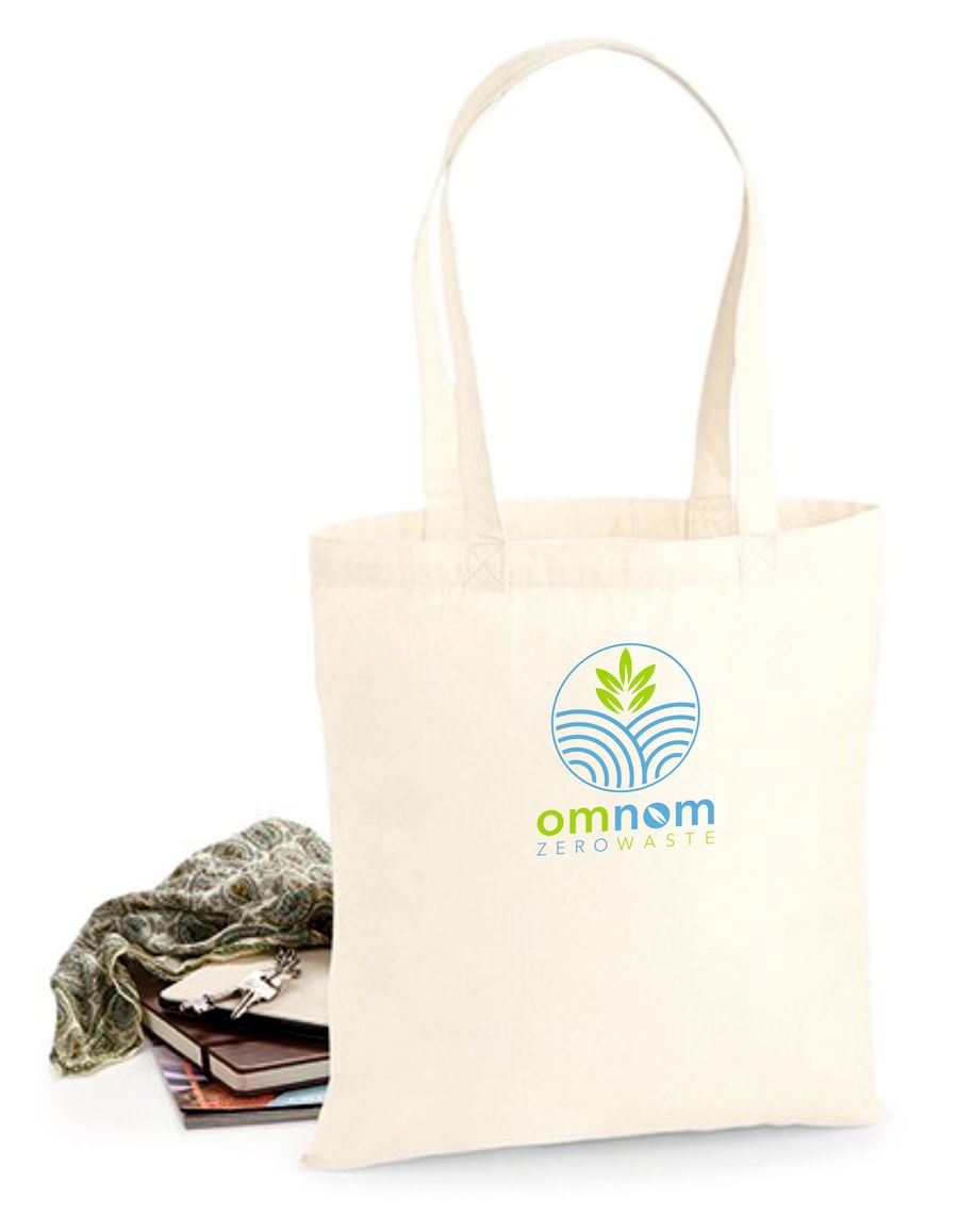 OMNOM Premium Cotton tote Embrodiered 200 Bags