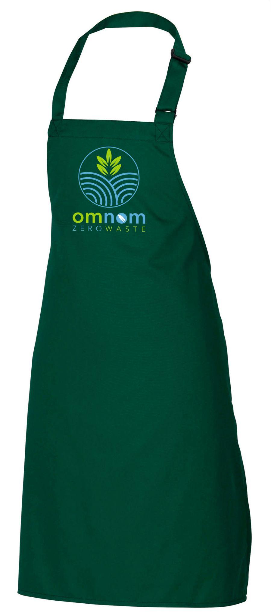 OMNOM ZERO WASTE cotton adult craft apron Embrodiered