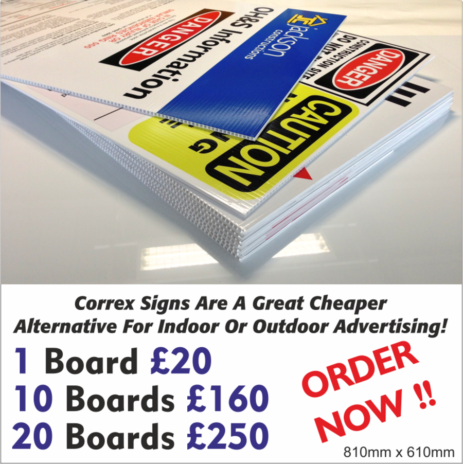 Correx Advertising Boards