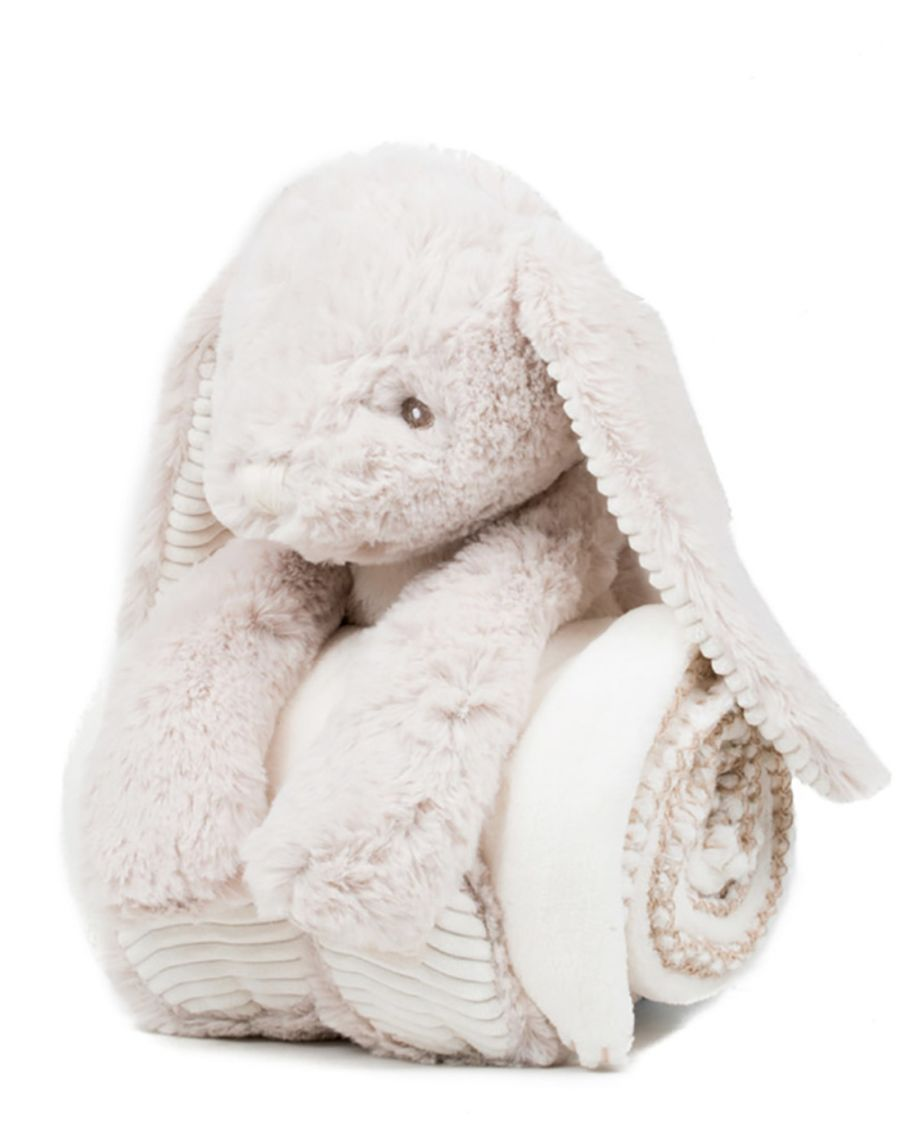 EASTER BUNNY WITH EMBROIDERED BLANKET