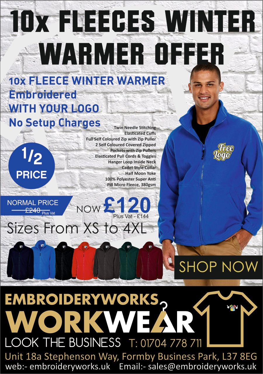 10x FLEECES WINTER WARMER OFFER