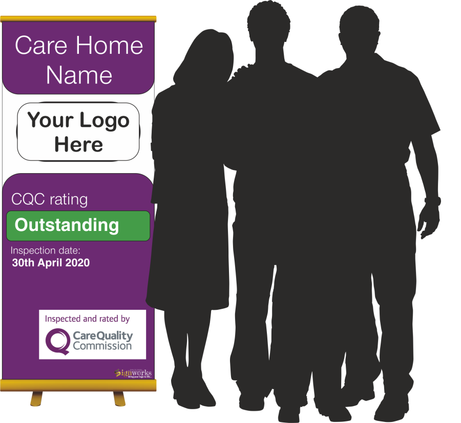 CQC care quality commission roller pop up banner