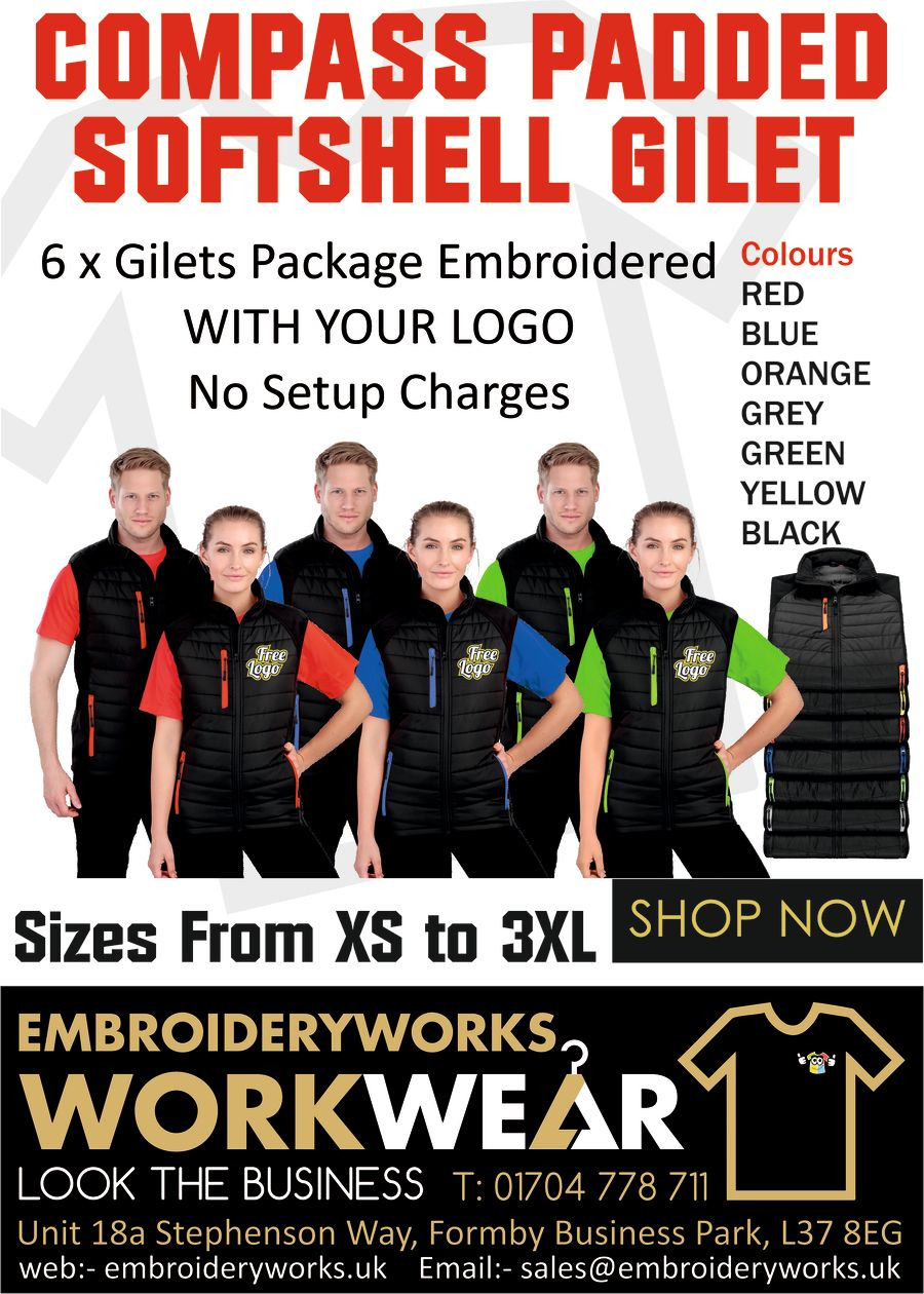 COMPASS PADDED SOFTSHELL GILET PACKAGE