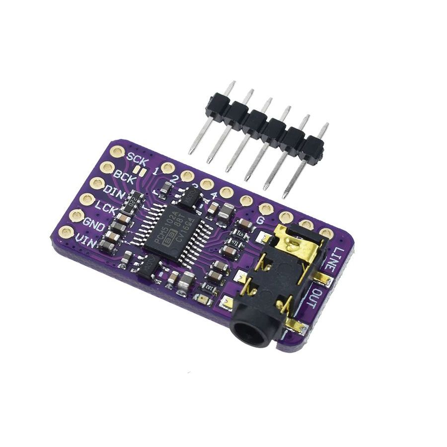 I2S PCM5102A DAC Decoder with Headphone Jack