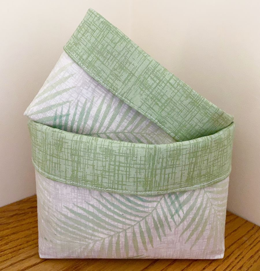 Cotton Fabric Baskets