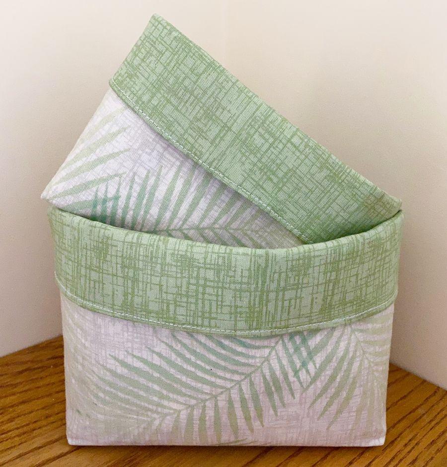 Cotton Fabric Baskets
