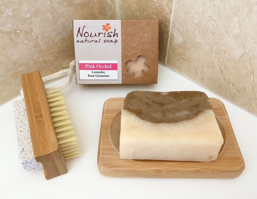 Soap, Soap Dish & Nail Brush Gift Set