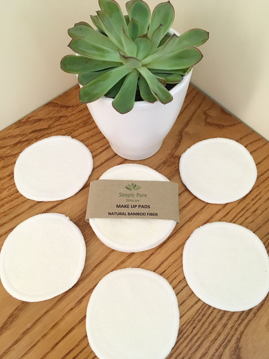 Natural Bamboo Fiber Makeup Pads