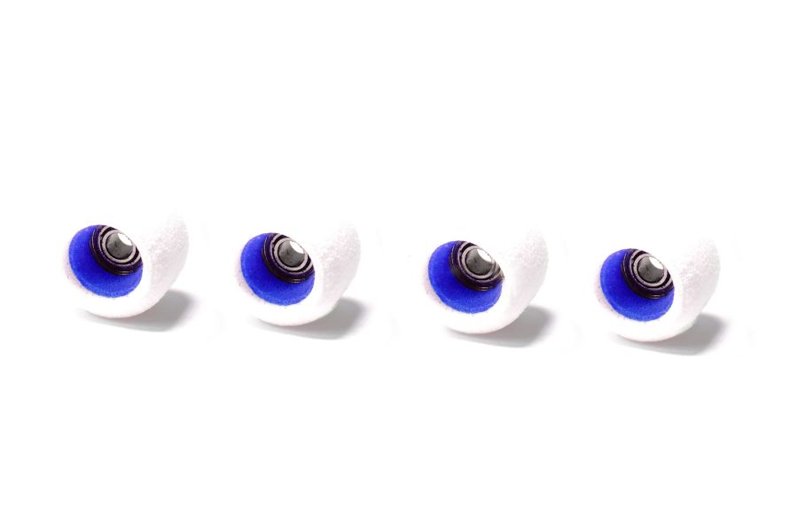 Classic White Wheels with Blue Cores