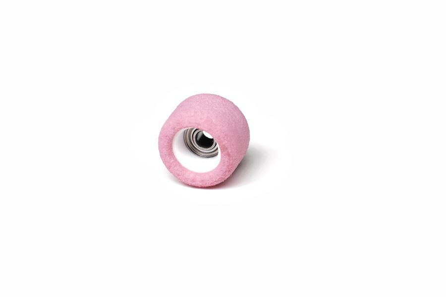 Single Bearing Pink Wheels with White Cores
