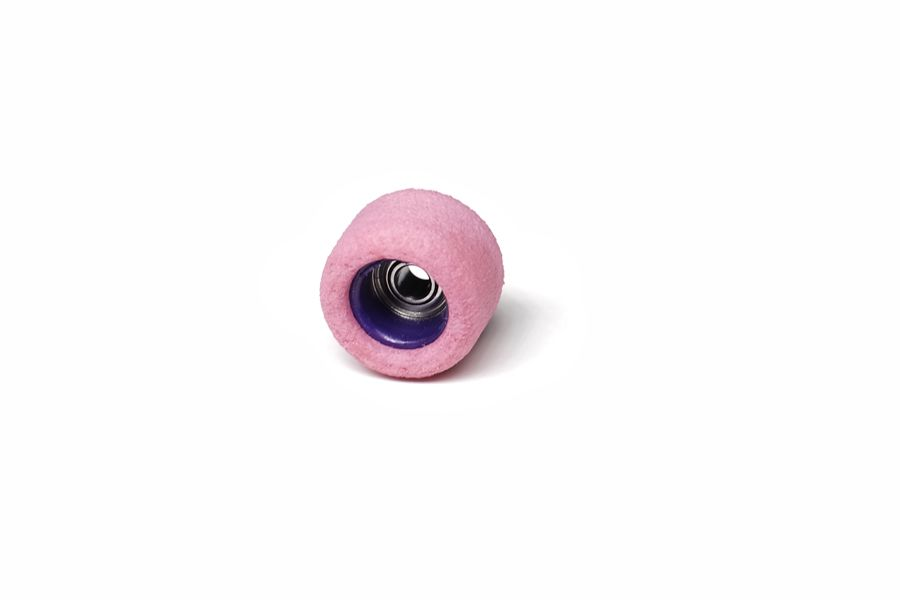 Single Bearing Pink Wheels with Purple Cores