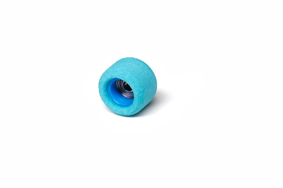 Single Bearing Blue Wheels with Blue Cores