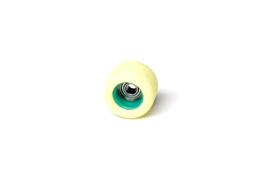 Single Bearing Yellow Wheels with Green Cores