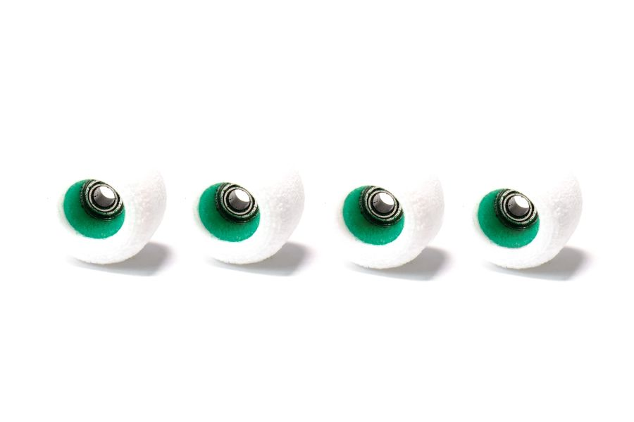 MegaCore White Wheels with Green Cores