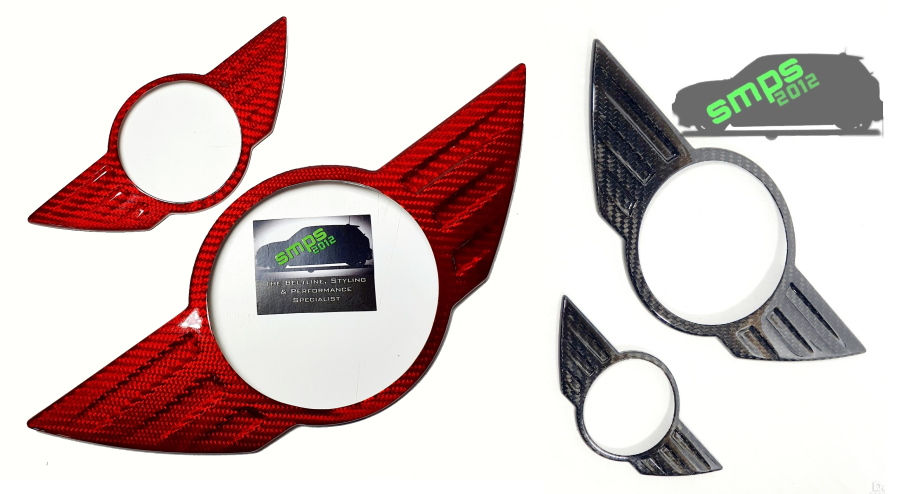 Mini R60/R61 Carbon Fibre Badge Covers