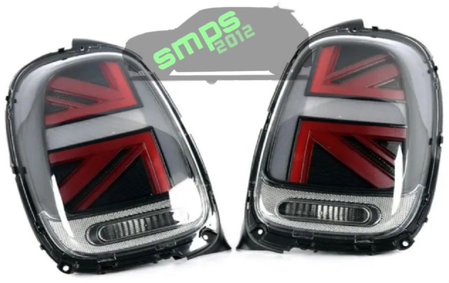 F55 / F56 / F57 LED Black & Red Union Jack Lights