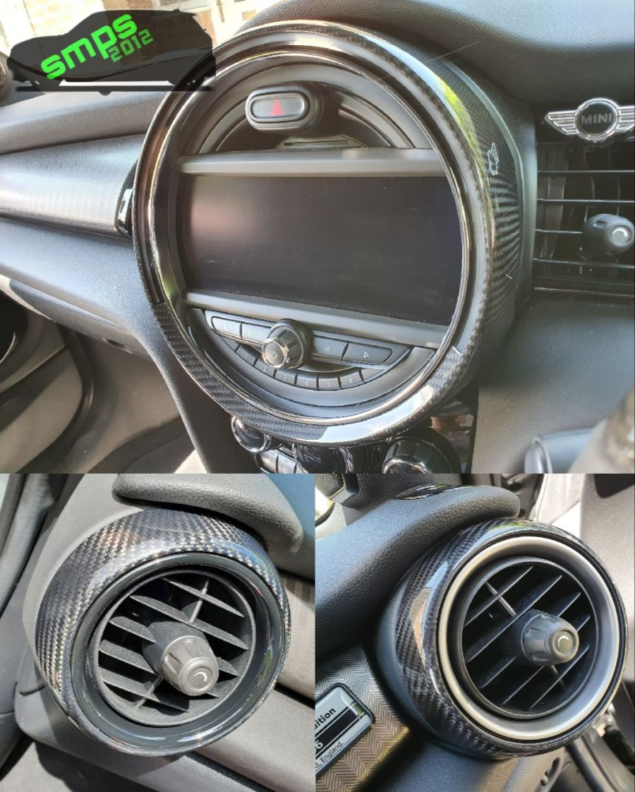 Gen 3 Mini F55, F56, F57 - 3 Piece Carbon Fiber Dash Surrounds