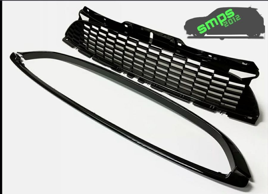 Gen 2 Mini R55, R56, R57, R58, R59 Replacement Grille Trims Piano Black Gloss
